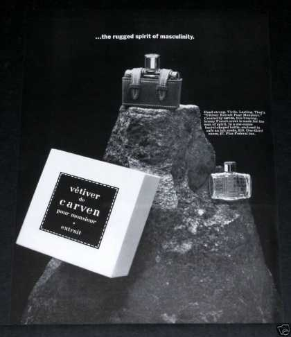 Old , Vetiver De Carven, for Men (1964)