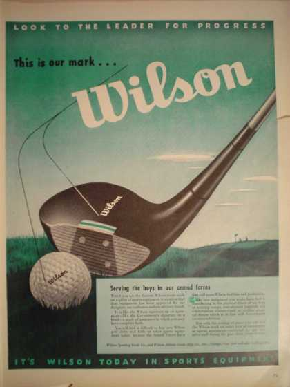 Wilson Golf Balls Clubs War theme (1945)