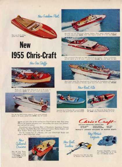 '54 Chris Craft Boat Cobra Express Cruiser Ad T (1954)