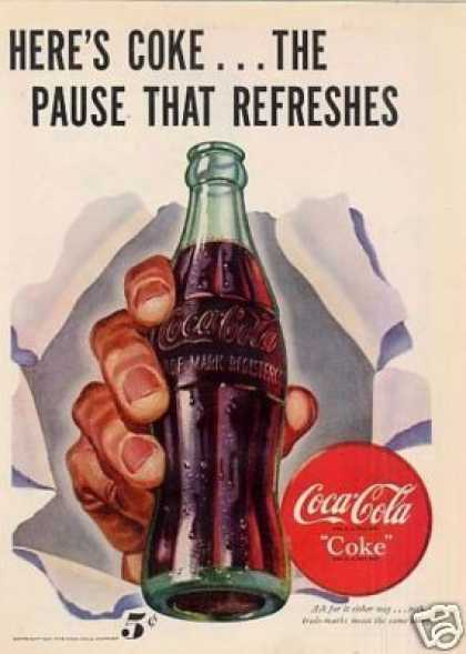 "Coca-cola Ad ""Here's Coke... (1947)"