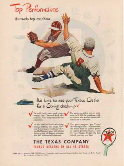 Texaco – Top Performance – Baseball (1948)