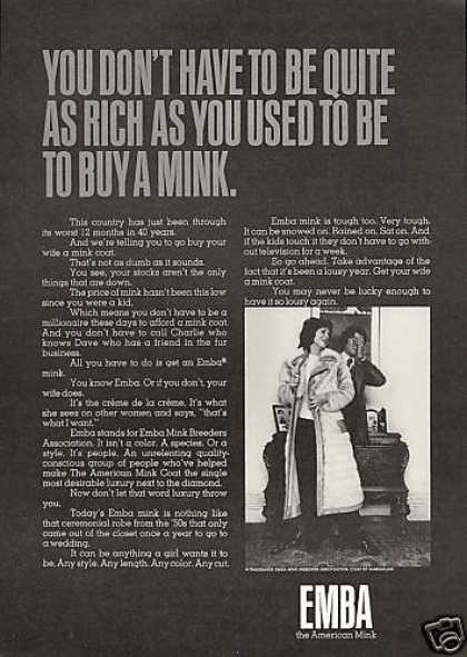 Emba American Mink Quite As Rich Fur (1971)