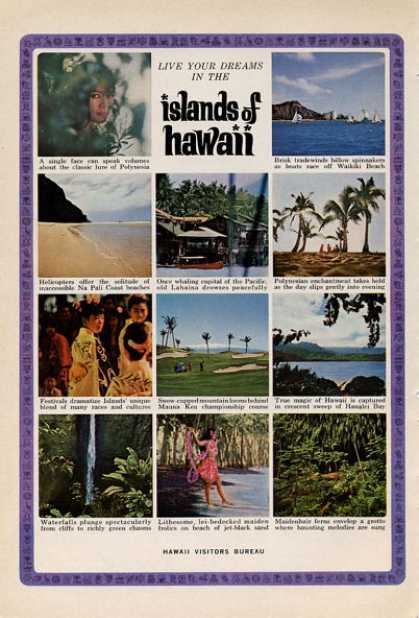 Hawaii Visitors Bureau Live Your Dreams- (1965)