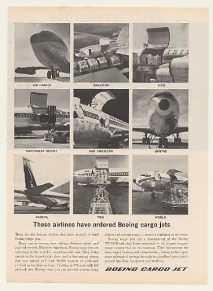 Boeing Cargo Jet Nine Airlines Photo (1964)