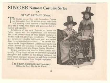 Singer Sewing Machine National Costume Welsh (1899)