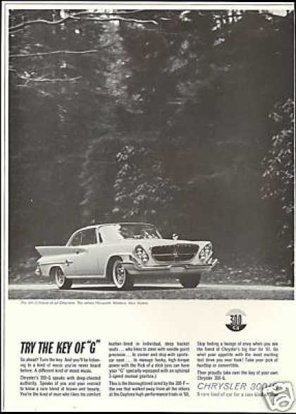 Chrysler 300-G 300G Photo Vintage Car (1961)