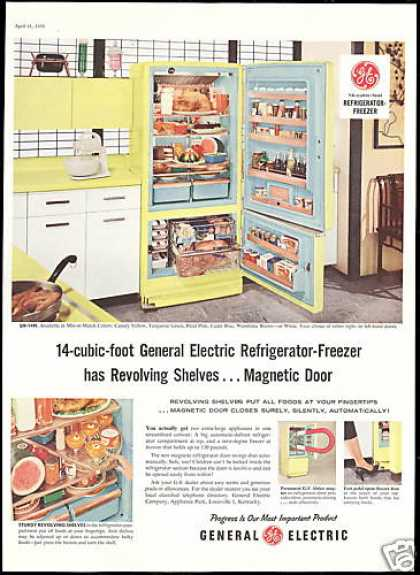 GE General Electric Freezer Refrigerator Photo (1956)