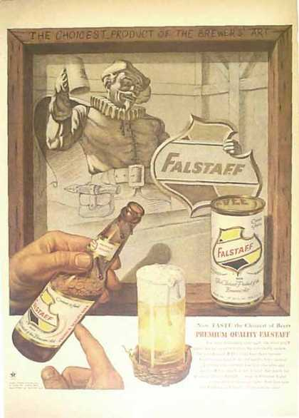 Falstaff Beer – Product of the Brewers' Art – Sold (1953)