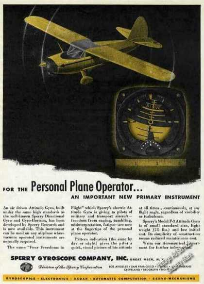 Sperry Gyroscope New Attitude Gyro (1946)
