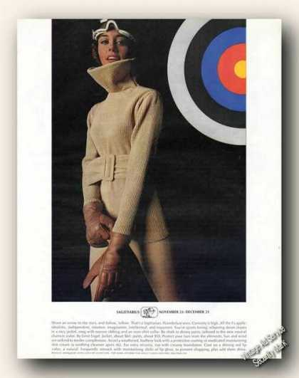 Sagittarius Horoscope Theme Fashion Advertising (1969)