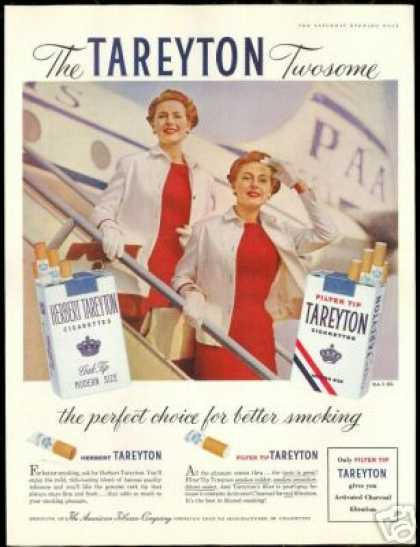 PAA Pan American Airlines Tareyton Cigarette (1956)