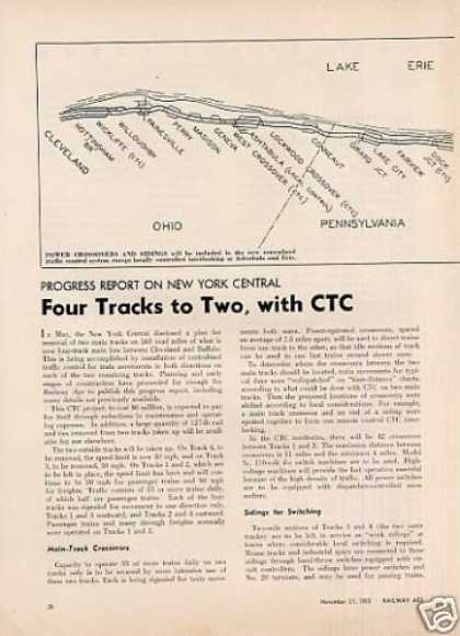 """Four Tracks To Two, With Ctc"" Article/nyc (1955)"