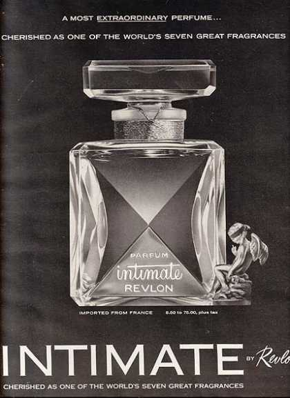 Revlon's Intimate Perfume that is imported from France (1963)