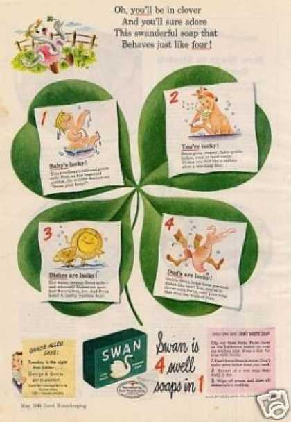"Swan Soap Ad ""You'll Be In Clover... (1944)"