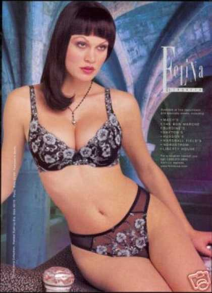 Sexy Pretty Woman Photo Felina Lingerie (1999)