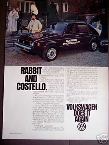 Rabbit & Costello Vw Volkswagen Car (1979)