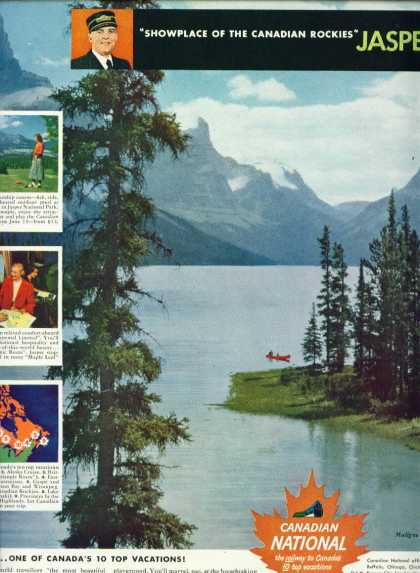 Canadian National Railways C Ad Maligne Lake (1950)