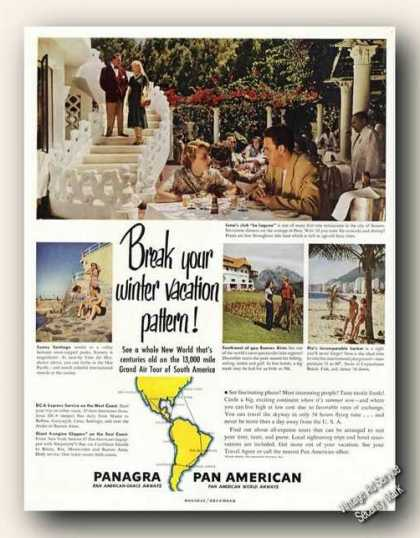 Panagra Lima Club La Laguna Photo Travel (1949)