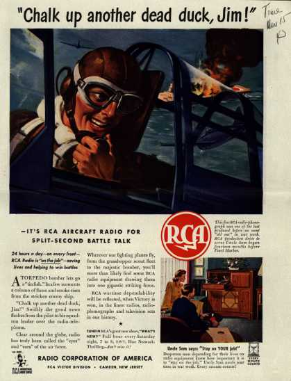 "Radio Corporation of America's Radio – ""Chalk up another dead duck, Jim!"" (1943)"