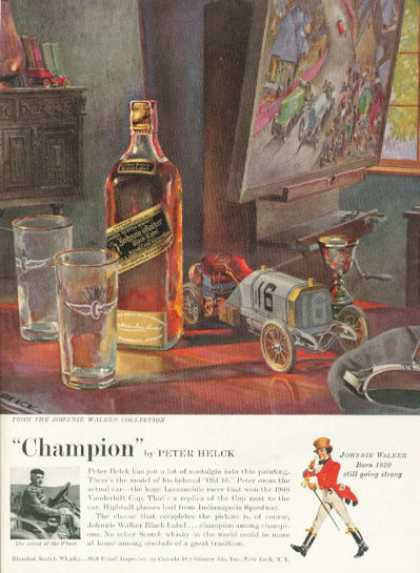 Johnnie Walker Whisky Ad Peter Helck (1958)
