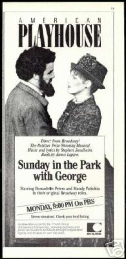 Musical PBS Bernadette Peters Many Patinkin TV (1986)