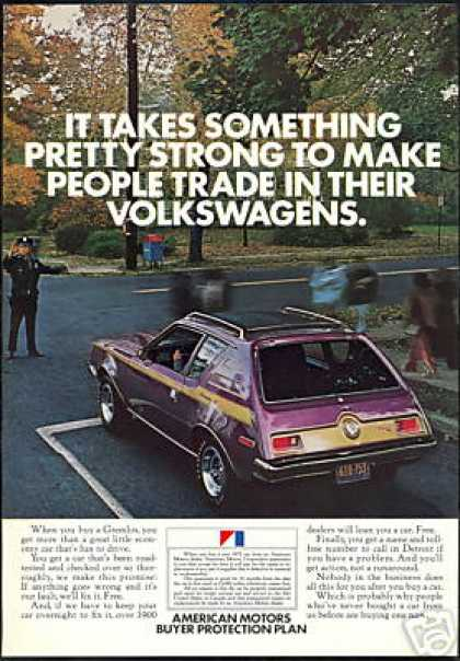 Purple Gold AMC Gremlin X Vintage Car Photo (1972)