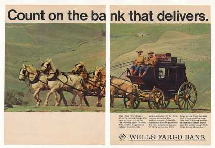 Wells Fargo Bank Stagecoach Photo (1966)