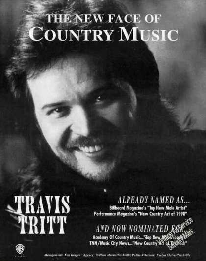 "Travis Tritt Photo ""New Face of Country Music"" (1991)"