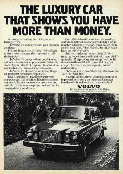 Volvo 164 Shows You Have More Than Money (1976)