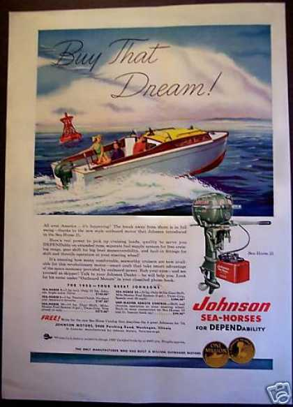 Johnson Sea-horse 25 Boat Motor (1953)
