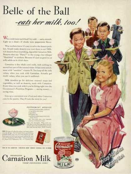 Carnation Milk Belle of the Ball Period Art (1942)