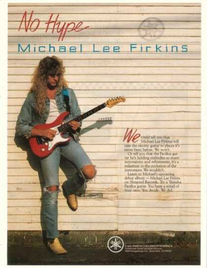 Michael Lee Firkins Photo Yamaha Guitar No Hype (1990)