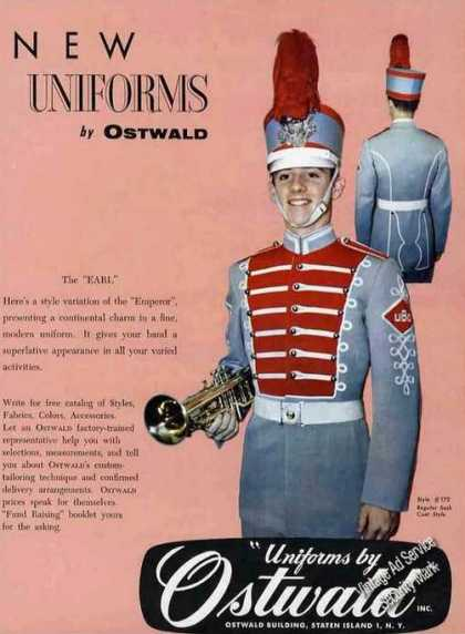 New Band Uniforms By Ostwald Staten Island Ny (1958)