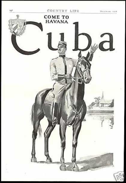 Travel To Havana Republic Of Cuba Vintage 2 pg (1926)