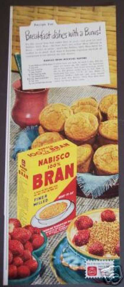 Nabisco 100% Bran Molasses Muffin Recipie (1947)