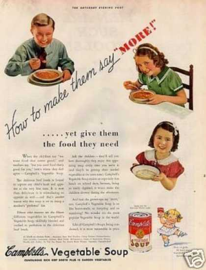 "Campbell's Vegetable Soup Ad ""How To Make Them.. (1936)"