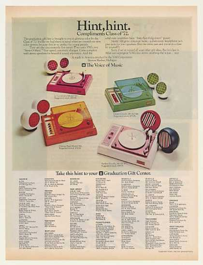 V-M Voice of Music Color Stereo Phonographs (1972)