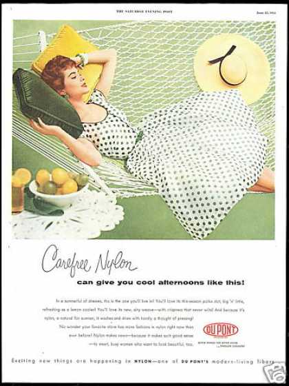 DuPont Nylon Fashion Pretty Redhead Photo (1954)