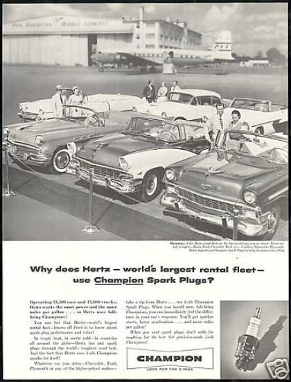Hertz Rent a Car Buick Ford Chevrolet Champion (1956)
