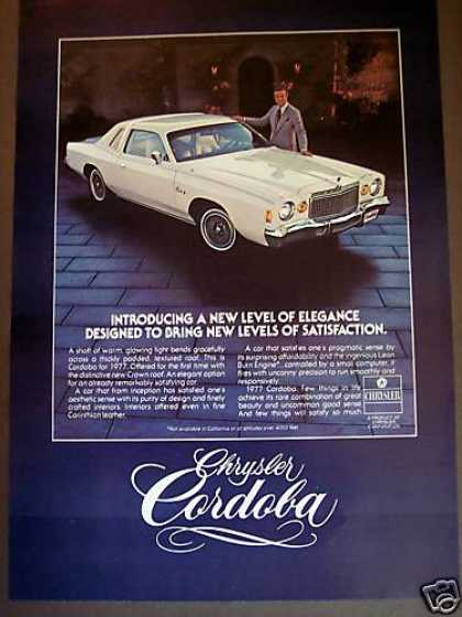 Chrysler Cordoba Fr 1977 Corinthian Leather Car (1976)