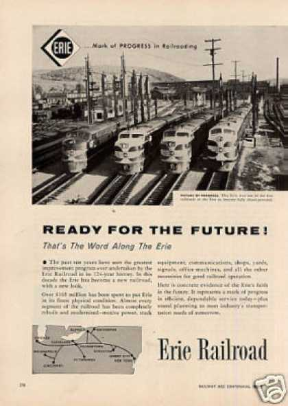 Erie Railroad Ad 2 Page (1956)