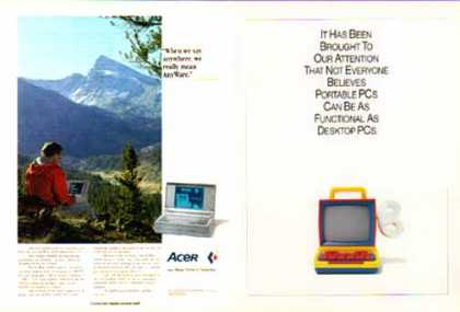 Acer Computers – AnyWare 1100LX Laptop (1991)