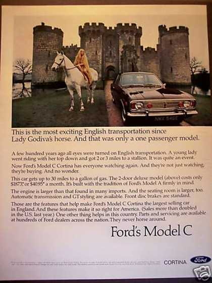 Lady Godiva Ford Model C Cortina Car Photo (1968)