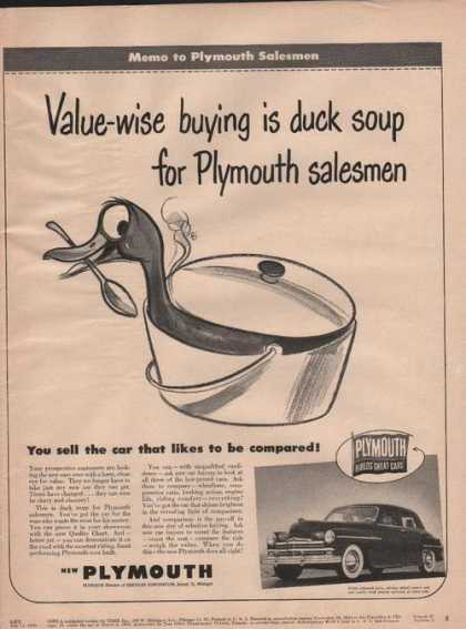 Value Wise for Plymouth Cars (1949)
