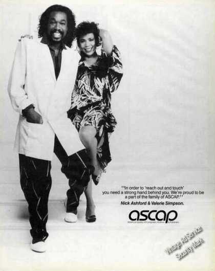 Nick Ashford & Valerie Simpson Photo Ascap (1985)