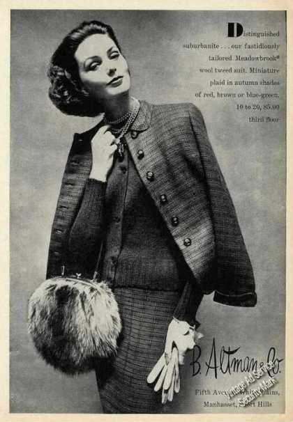 Wool Tweed Suit B Altman Fashion (1957)