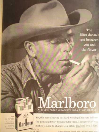 Marlboro new filter cigarette from Philip Morris (1955)