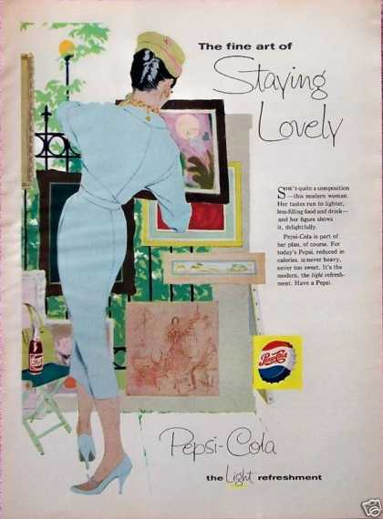 Pepsi Cola Lovely Lady Fine Art Looking At (1958)