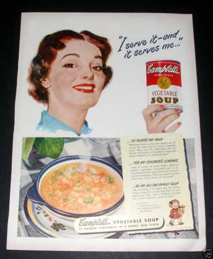 Campbell's Vegetable Soup, Exc (1949)
