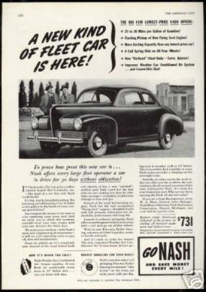 Nash Business Coupe Fleet Sales Test Drive (1941)